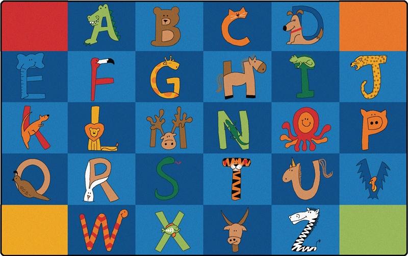 To Z Animals Rug Carpets For Kids Alphabet amp Animal
